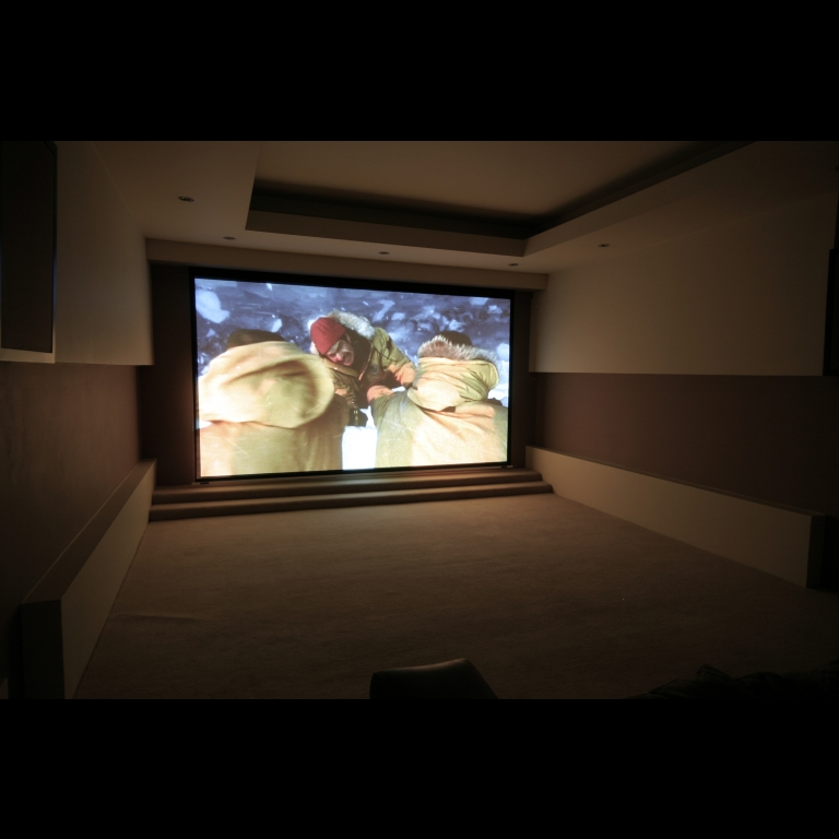Artcoustic Spitfire Venues and subwoofers installed in a private cinema