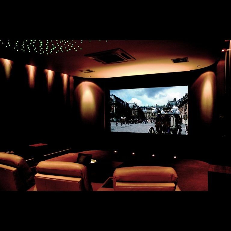 Artcoustic Spitfire Monitors and Spitfire Subwoofers installed in a dedicated private cinema