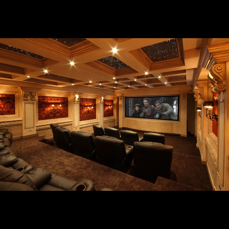 Artcoustic Spitfire 421 speakers and Spitfire Subwoofers installed in a dedicated private cinema