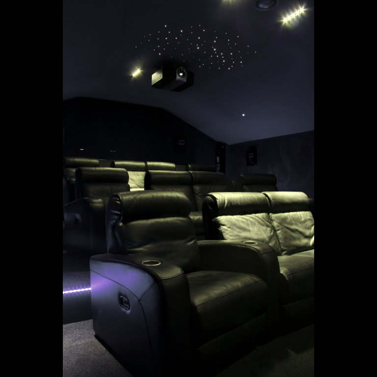 Artcoustic Spitfire Venues and Spitfire Subwoofers installed in a dedicated private cinema